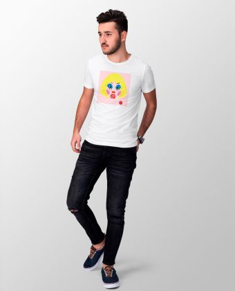 White T-Shirt Remedios L'Avella for Man